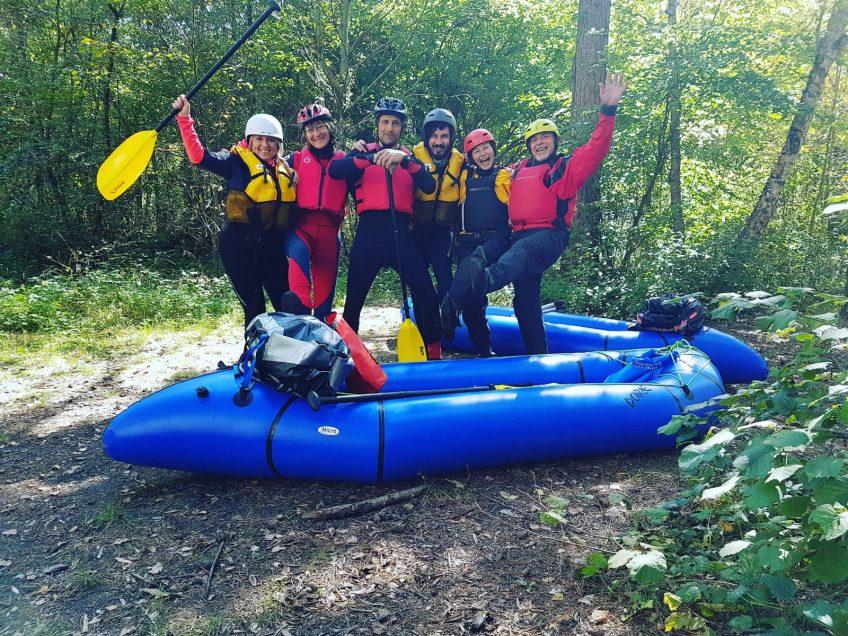 Rheinschlucht September 2017 – Paddeltour mit unseren Pack Rafts